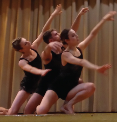 Amanda Selwyn Dance Theatre artists in performance at PS 312 Brooklyn