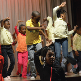 Students dancing at PS83X