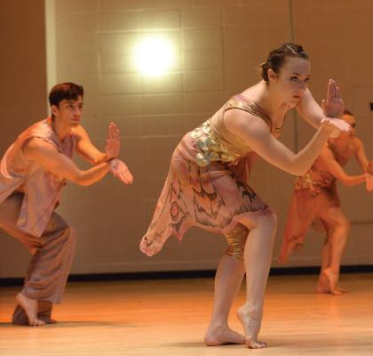 Amanda Selwyn Dance Theatre artists in a school performance at Murry Bergtraum High School, NYC
