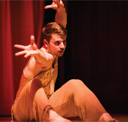 Amanda Selwyn Dance Theatre artist in a school performance at PS 78, Bronx
