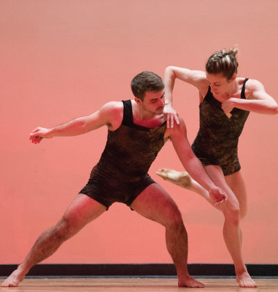 Amanda Selwyn Dance Theatre artists in performance at East Village Community School, NYC