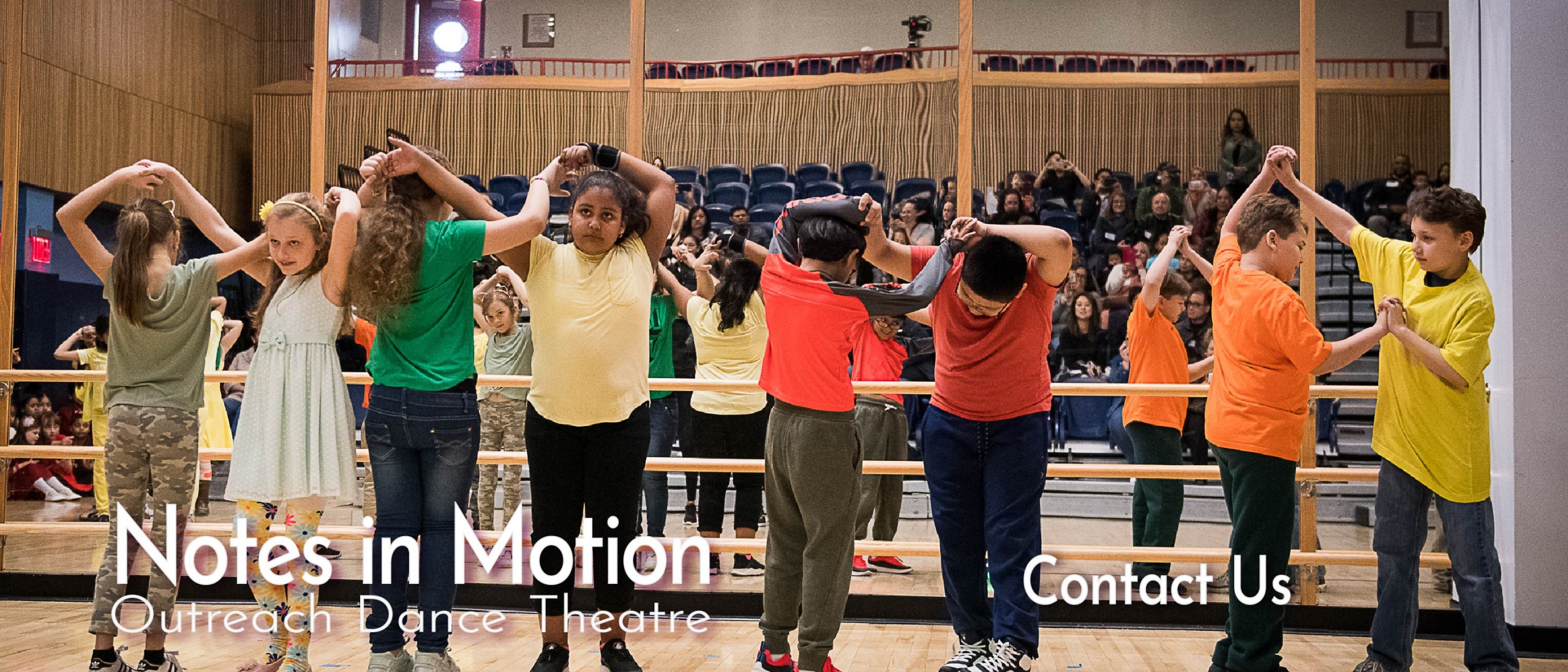 Students from PS 290, Queens performing in a Latin Dance residency