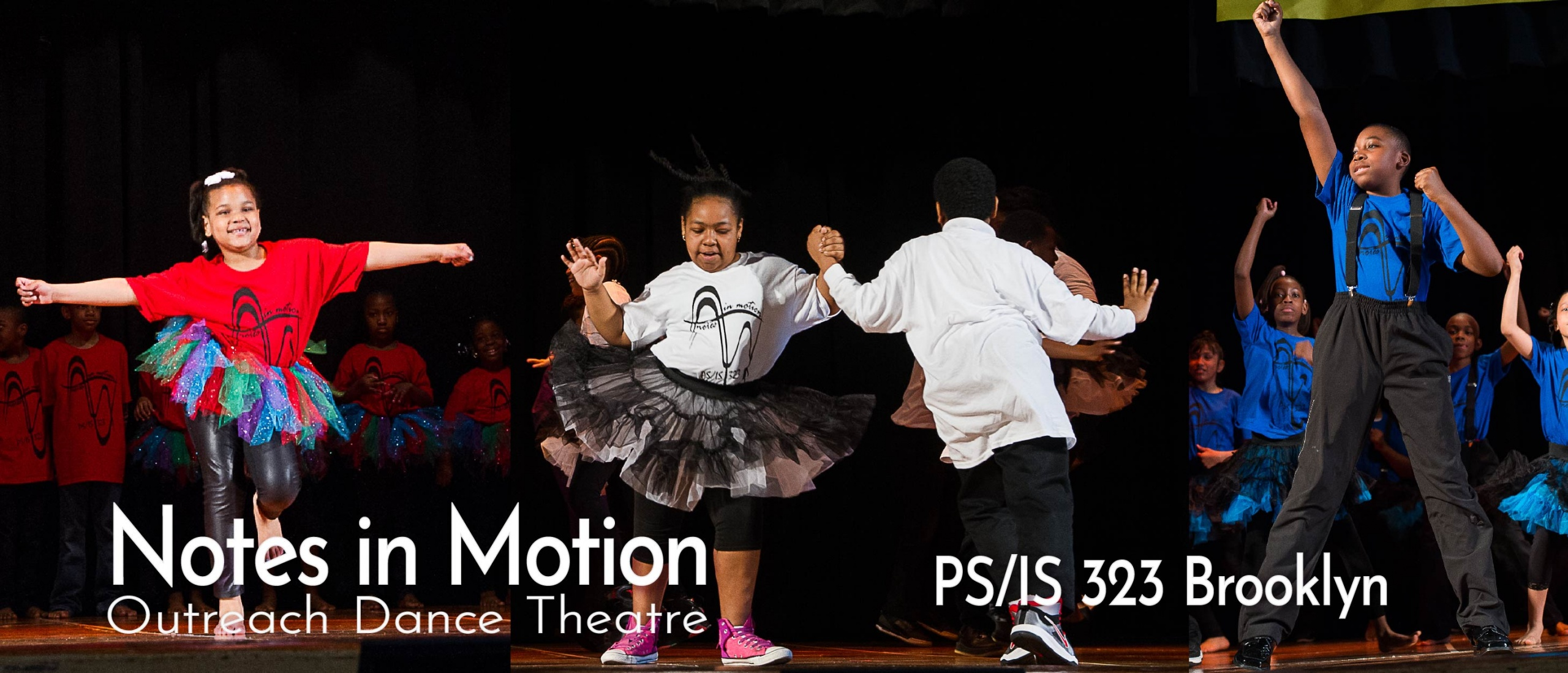 Students performing during a culminating event at PS/IS 323, Brooklyn