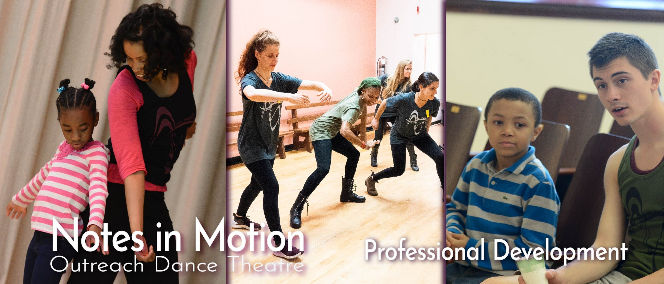 Teaching Artists of Notes in Motion working with NYC Public School kids
