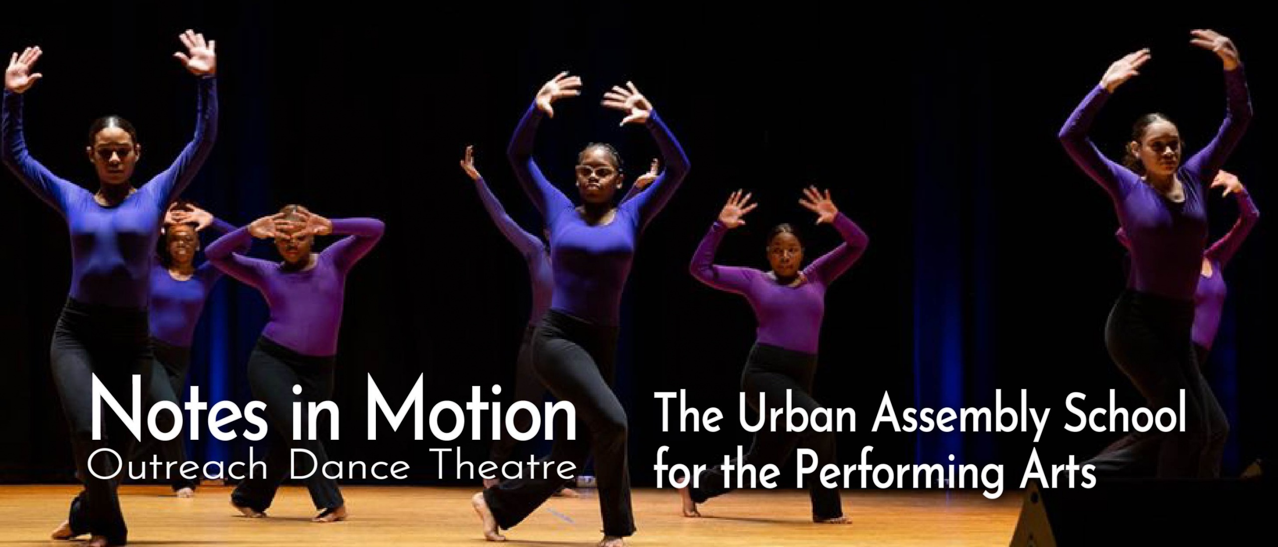 Students performing in a Jazz dance residency at Urban Assembly School for the Performing Arts, Manhattan