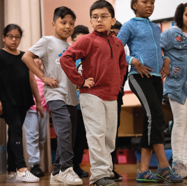 Tap dance residency at Amistad Dual Language School